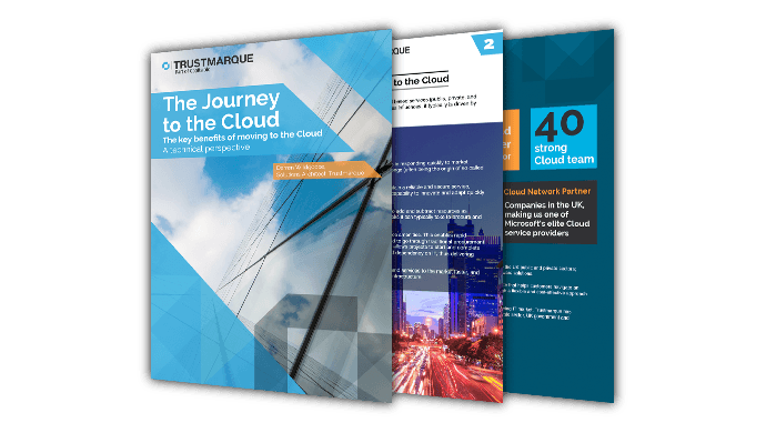 Image of the Journey to the Cloud Brochure for the Trustmarque site